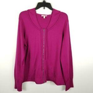 Eileen Fisher Women Hooded Sweater Organic Cotton